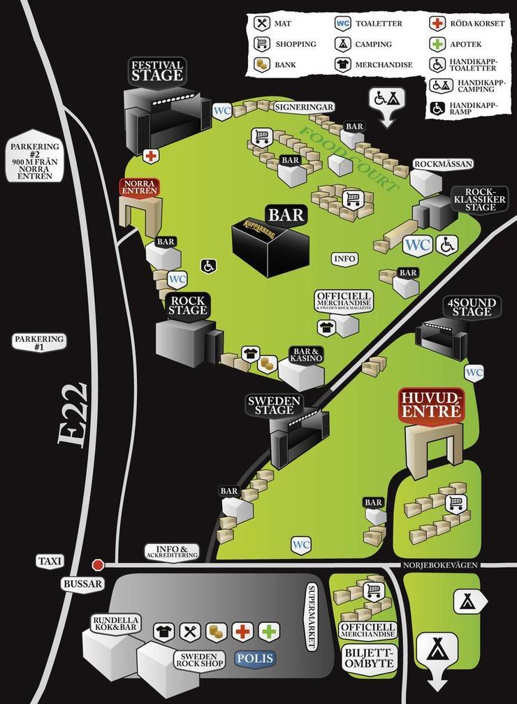 ConcertsMetal Event Kalender Sweden Rock Festival - Map sweden 2014