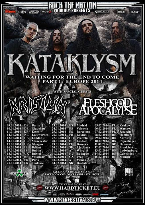 Kataklysm Europe Tour 2014
