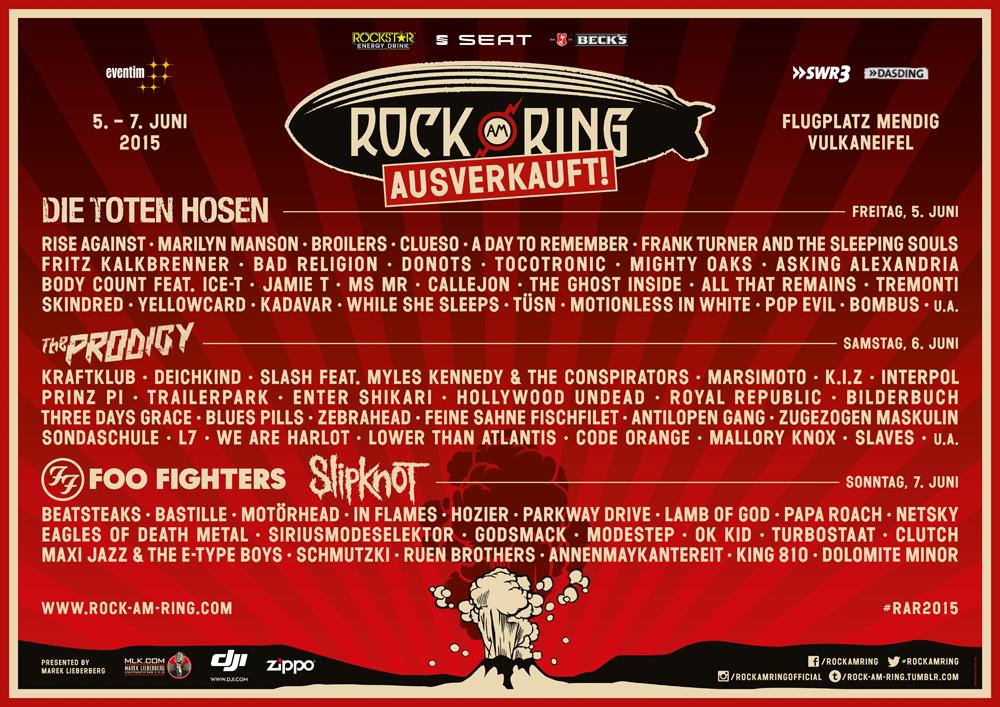 Rock Am Ring 2015 05062015 3 Tage Mendig Rheinland