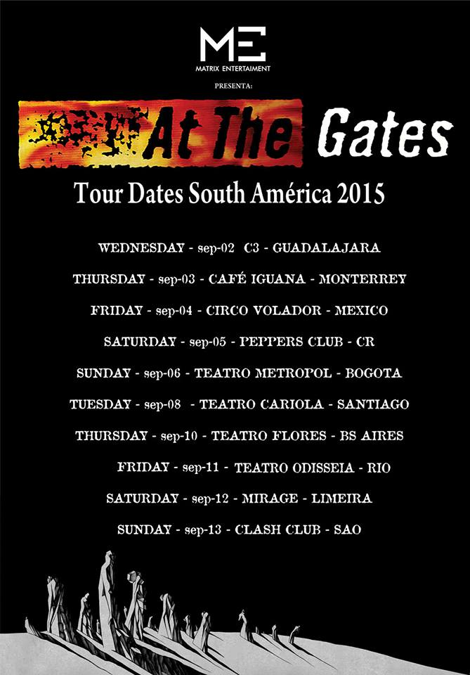 At The Gates - SA Tour 2015