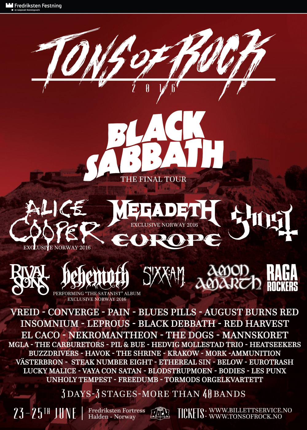 Tons of Rock 2016