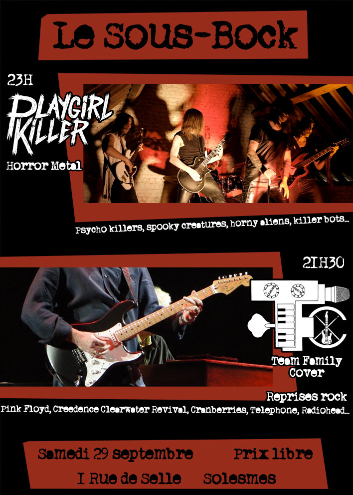 Concert Playgirl Killer + Team Family Cover