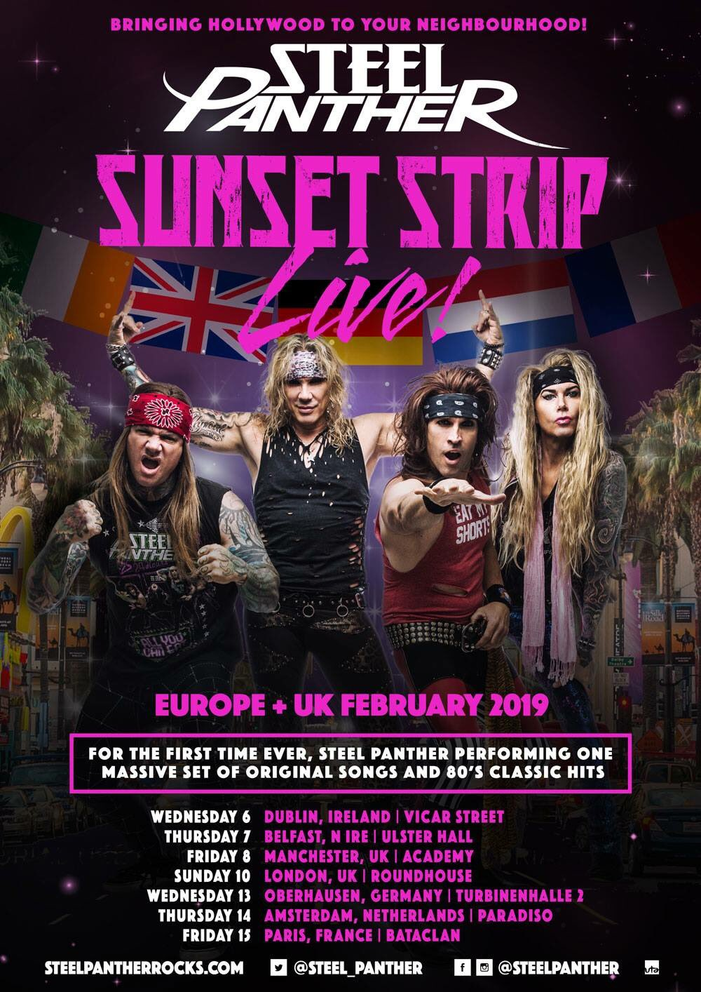 Steel Panther - Tour 2019