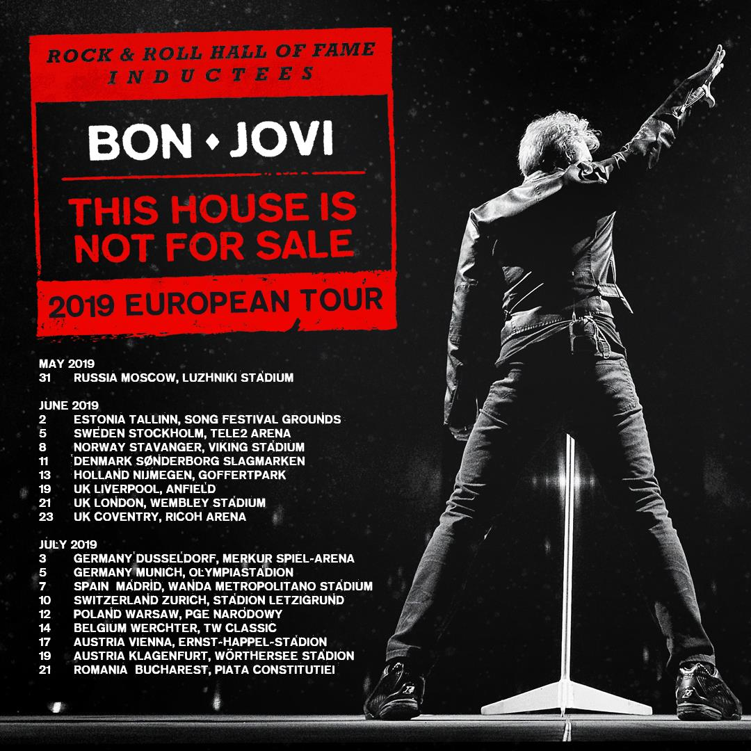 Bon Jovi Tour 2019 21 06 2019 London England Vereinigtes