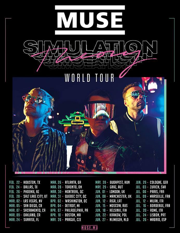 Muse Tour 2019 31 03 2019 Que Bec City Kanada Concerts