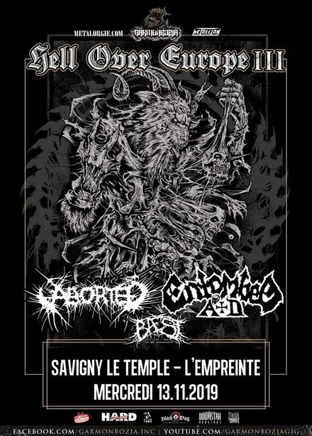 Entombed Ad + Aborted + Baest