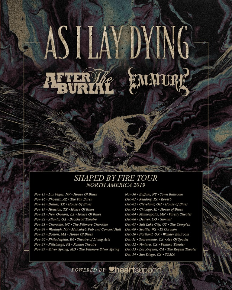 As I Lay Dying / After the Burial / Emmure