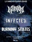 Concert Kraton / Infected / Burning States