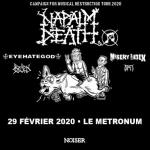 Napalm Death - Tour 2020